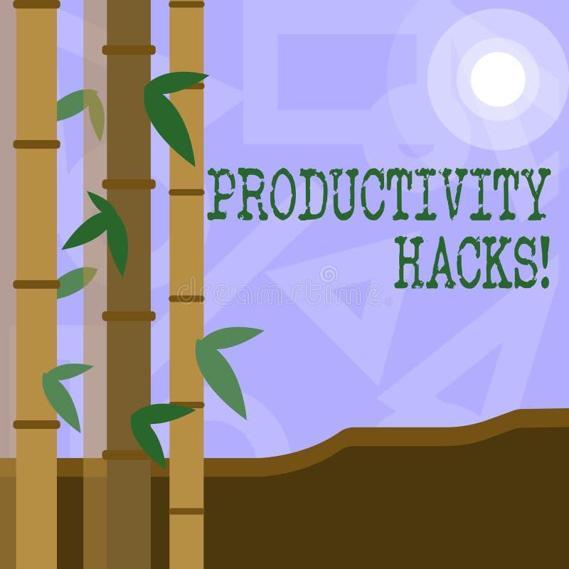 Cortes da produtividade do texto da escrita O significado do conceito que corta o método da solução derruba a produtividade da ef ilustração do vetor