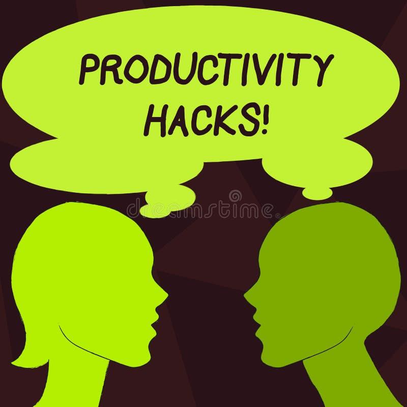 Cortes da produtividade do texto da escrita O significado do conceito que corta o método da solução derruba a produtividade da ef ilustração royalty free