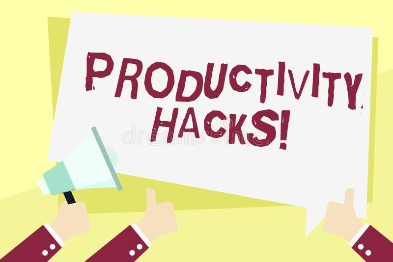 Cortes da produtividade do texto da escrita da palavra O conceito do negócio para cortar o método da solução derruba a produtivid ilustração royalty free