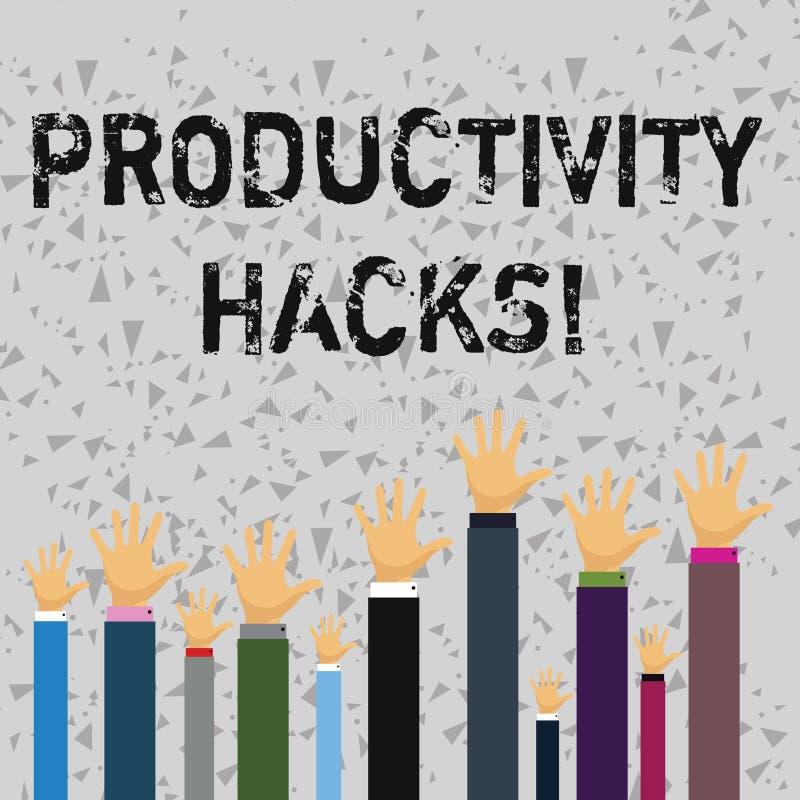 Cortes da produtividade do texto da escrita da palavra O conceito do negócio para cortar o método da solução derruba a produtivid ilustração do vetor