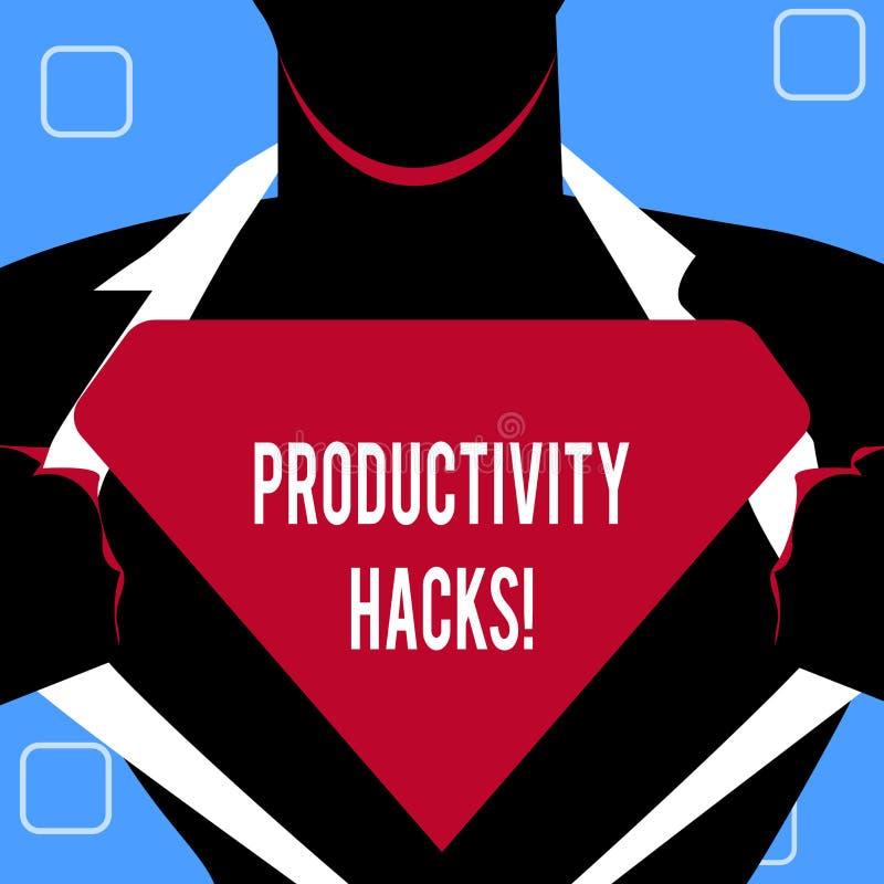 Cortes da produtividade da escrita do texto da escrita O significado do conceito que corta o método da solução derruba a produtiv ilustração stock