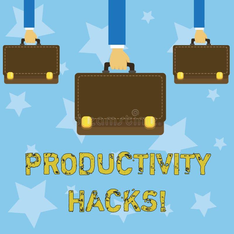 Cortes da produtividade da escrita do texto da escrita O significado do conceito que corta o método da solução derruba a produtiv ilustração royalty free