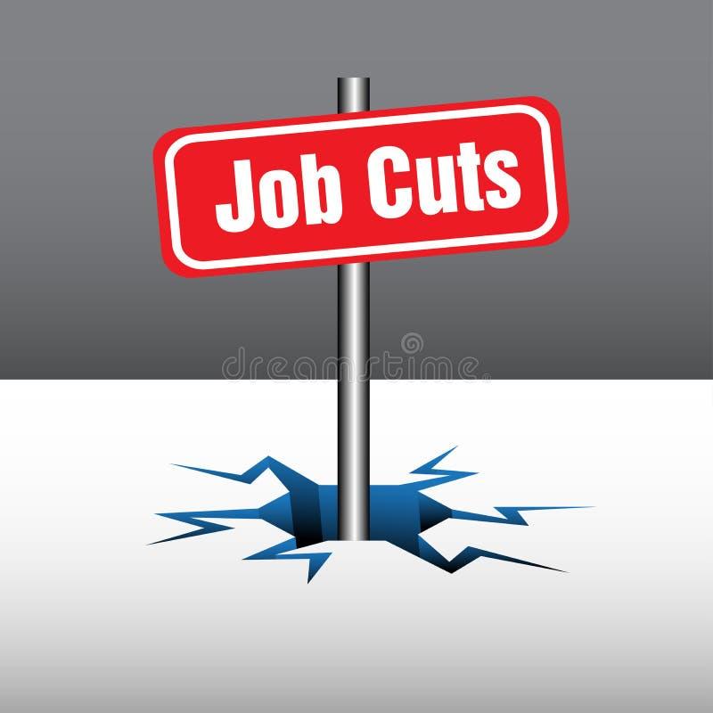 Cortes de empregos ilustração do vetor