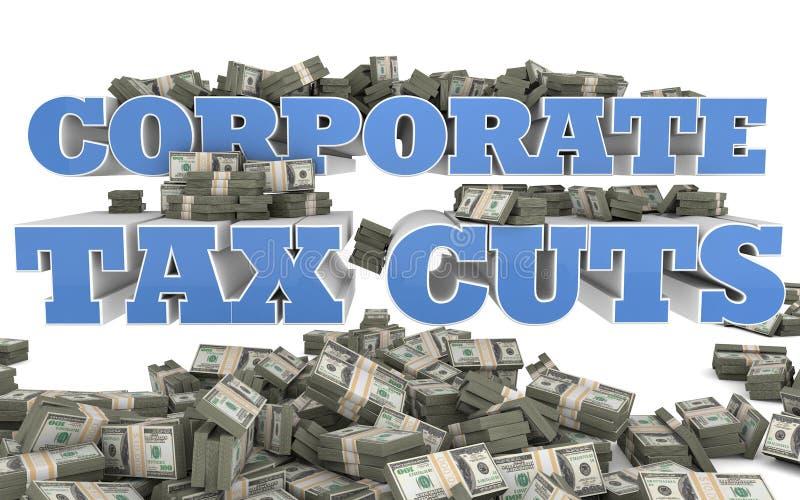 Cortes de imposto sobre o rendimento das pessoas coletivas ilustração royalty free