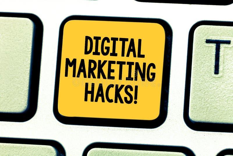 Cortes de mercado de Digitas do texto da escrita da palavra Conceito do negócio para usar as habilidades ou o sistema que cortam  foto de stock
