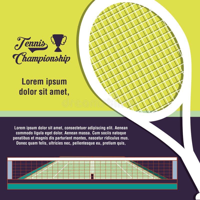 Cortes do esporte do tênis com raquete ilustração stock