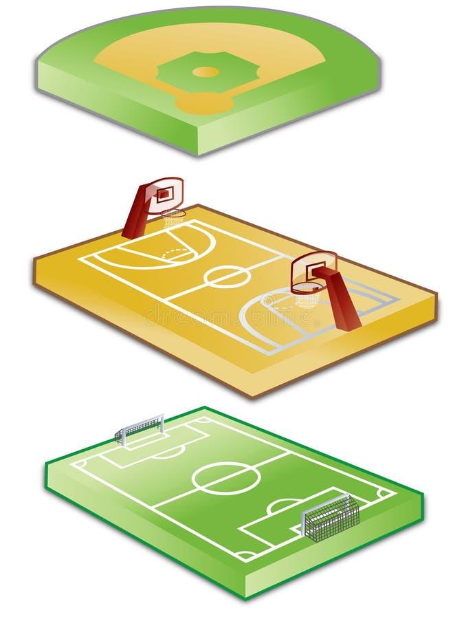 Cortes do jogo ilustração stock