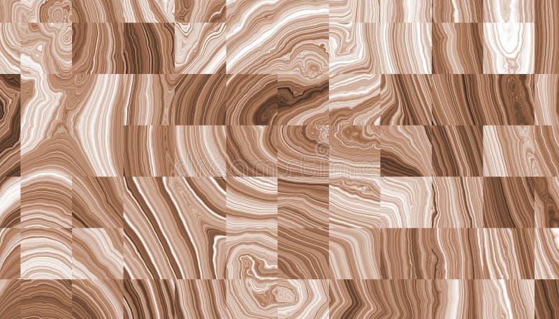 Cortes dos anéis de madeira encaracolado abstratos ilustração do vetor