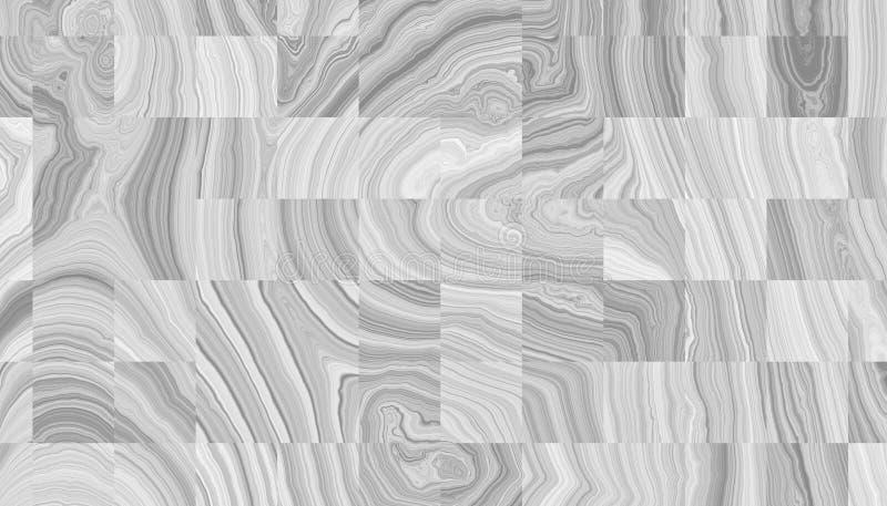 Cortes dos anéis de madeira encaracolado abstratos ilustração stock