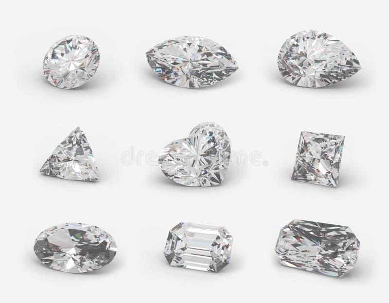 Cortes dos diamantes. ilustração royalty free