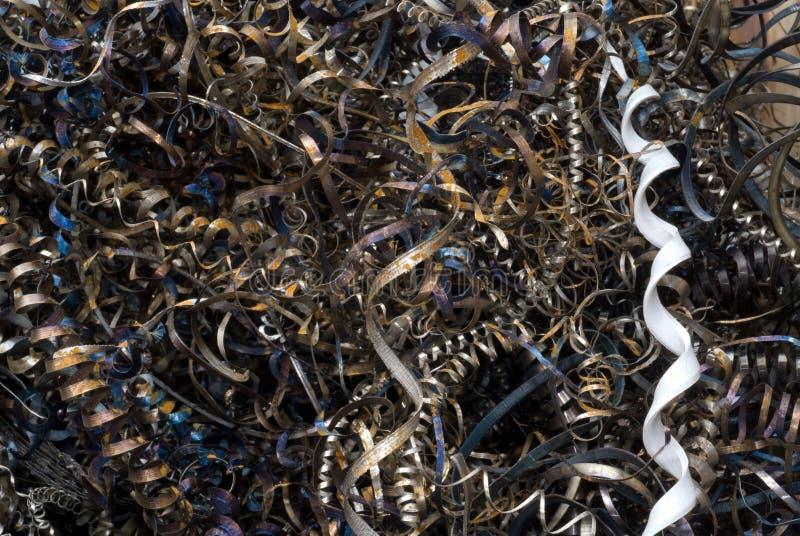 Cortes espirales de Grunge foto de archivo libre de regalías