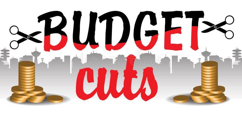 Cortes no orçamento ilustração royalty free