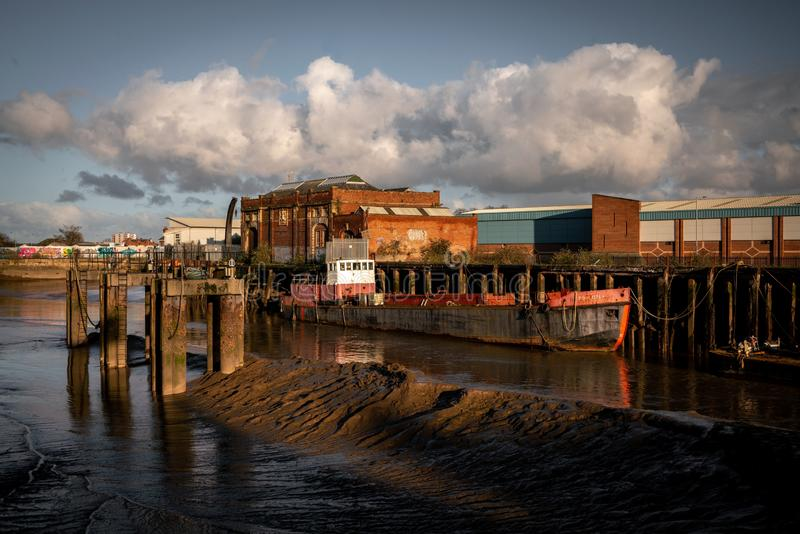Cortes no rio Hull imagens de stock royalty free