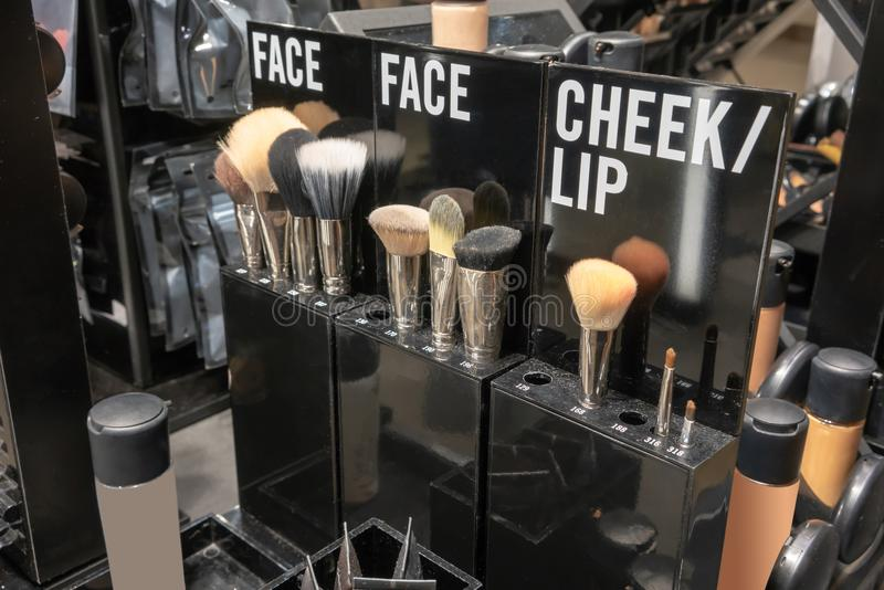 Cortesia da loja da estação da composição para a conveniência do cliente na loja imagens de stock