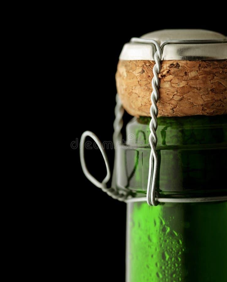 Cortiça de Champagne do Close-up imagem de stock royalty free