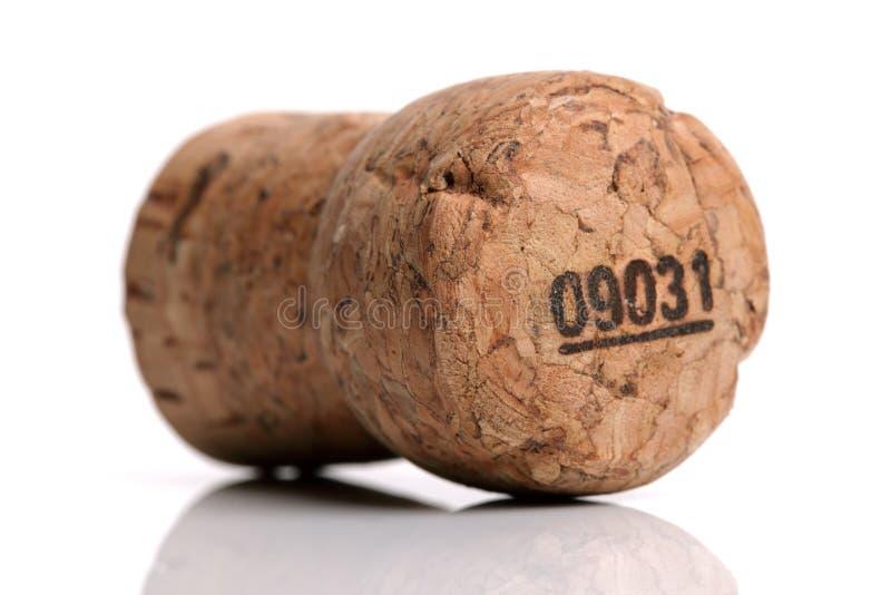Cortiça do vinho de Champagne fotografia de stock