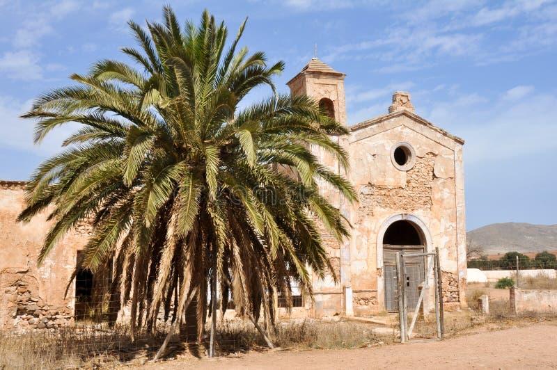 Cortijo del Fraile, construção histórica no cabo NP de Gata, Spain imagem de stock royalty free