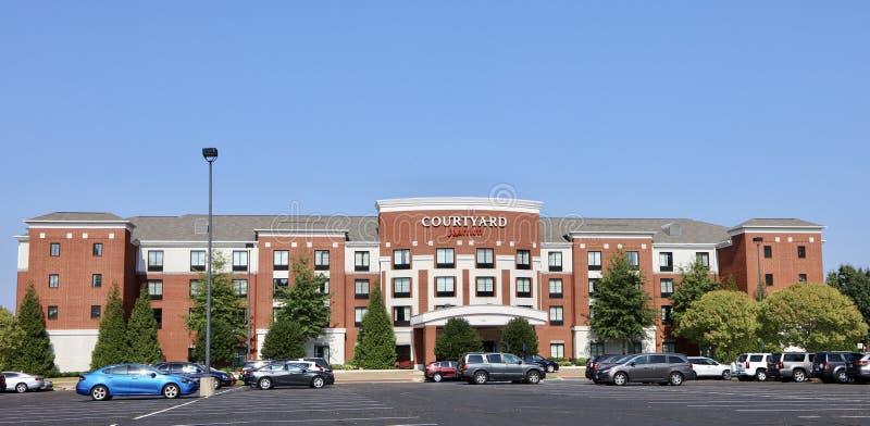Cortile da Marriot, Memphis fotografie stock libere da diritti