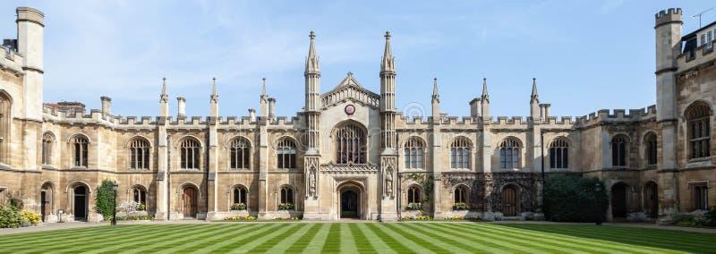 Cortile del corpus Christi College - università di Oxford fotografia stock