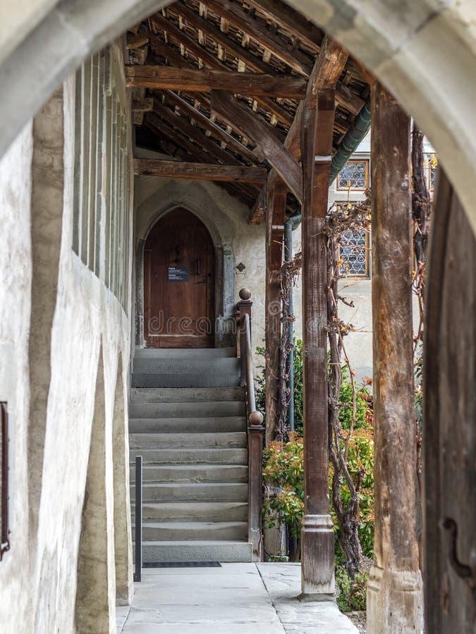 Cortile del monastero di Stein Am Rhein - 2 fotografia stock libera da diritti