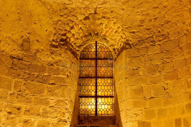 Cortile dell'abbazia di Mont Saint-Michel fotografia stock libera da diritti