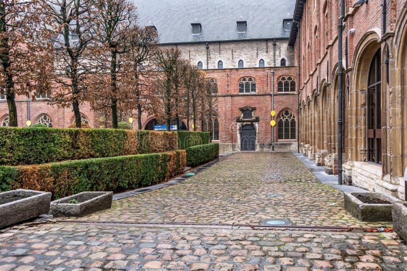 Cortile dell'università di Gand fotografie stock libere da diritti
