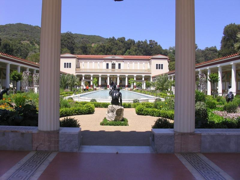 Cortile della villa di Getty fotografia stock