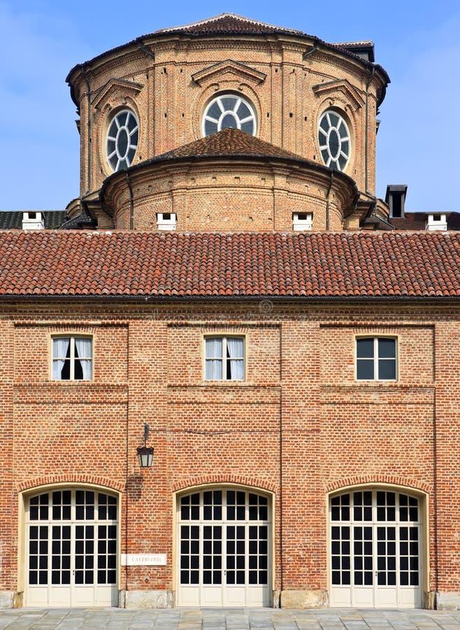 Cortile delle Carrozze Reggia di在都灵附近的Venaria Reale (皇宫) 库存图片