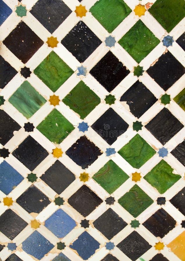 Cortile di Alhambra dei particolari fotografia stock