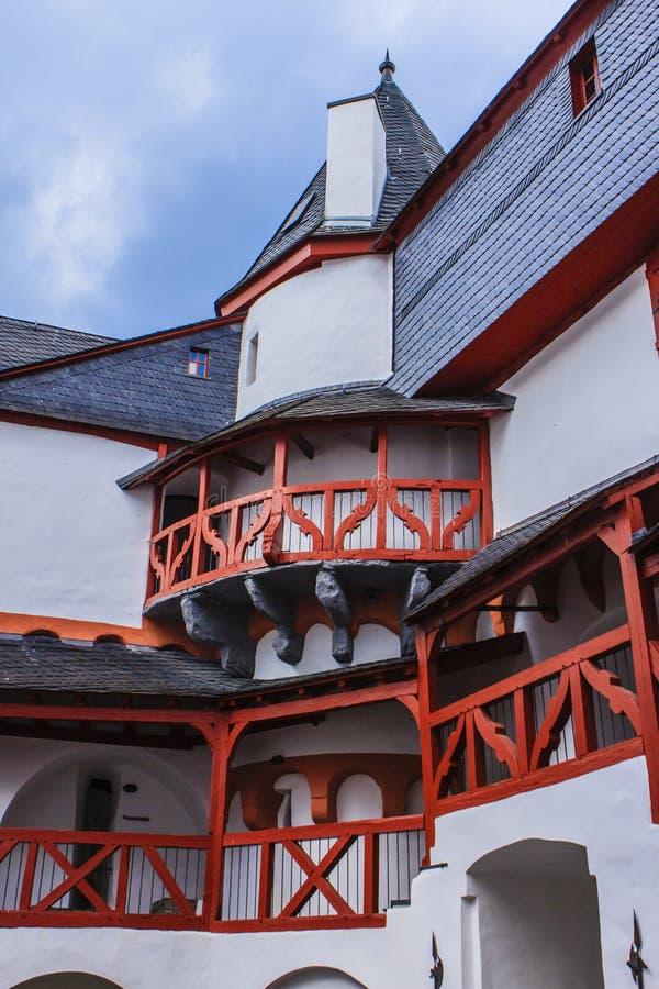 Cortile di Burg Pfalzgrafenstein immagine stock