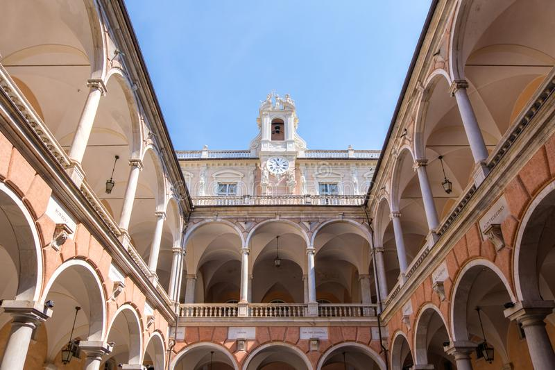Cortile di Doria Tursi Palace fotografia stock