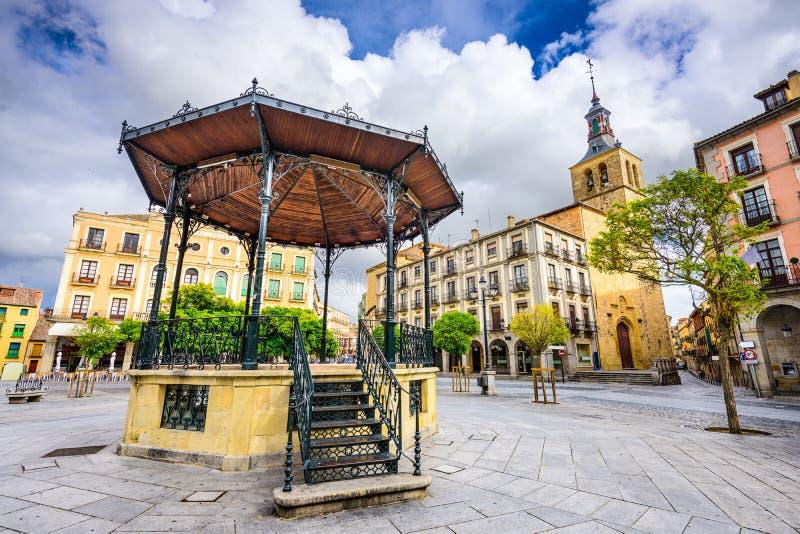 Cortile di Segovia Spagna fotografia stock libera da diritti