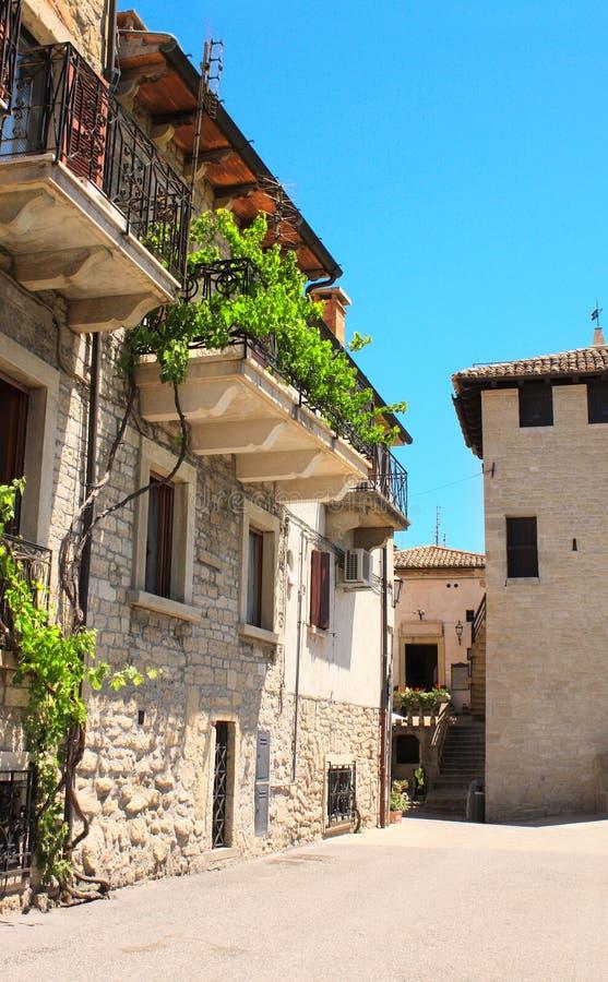 Cortile in Italia fotografia stock
