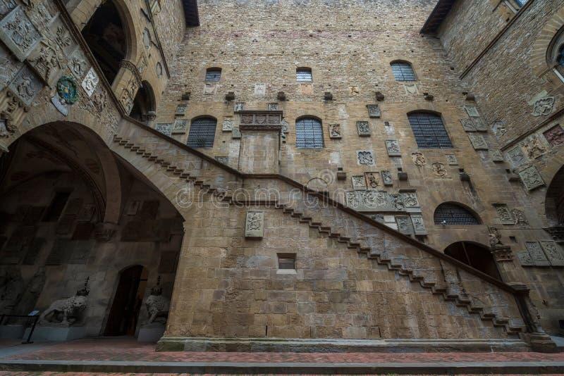 Cortile nel Museo Nazionale di Bargello immagini stock libere da diritti
