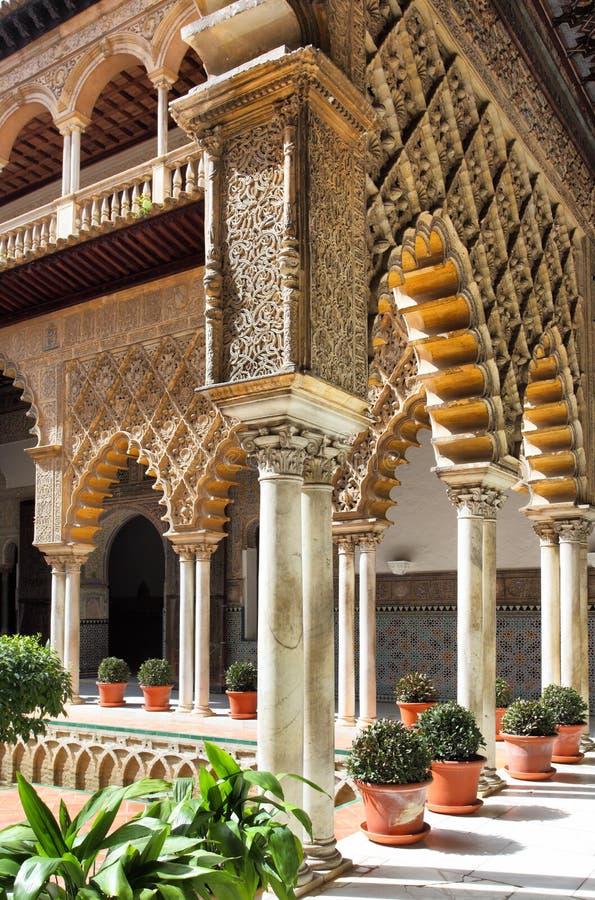 Alcazar di Siviglia fotografia stock libera da diritti