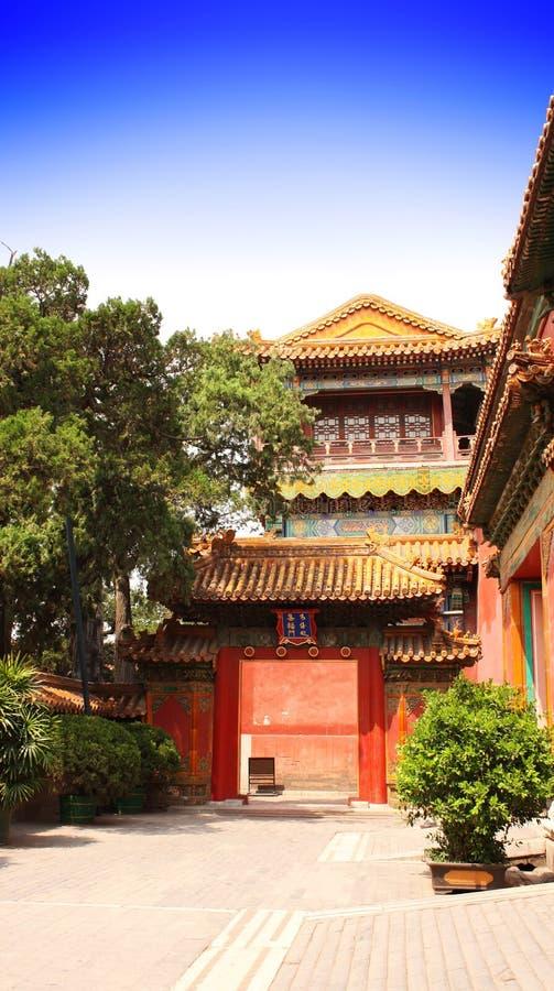 Cortile nella Città proibita, Pechino, Cina fotografia stock