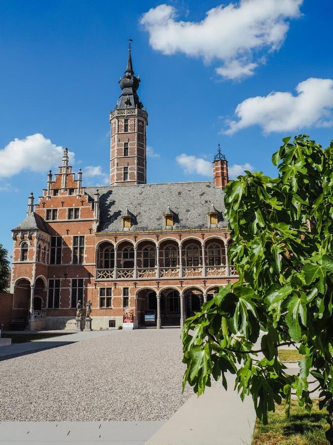Cortile principale del museo recentemente rinnovato Hof van Buysleyden, Malines, Belgio fotografia stock libera da diritti
