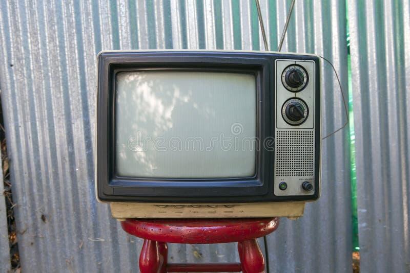 Cortile TV fotografie stock