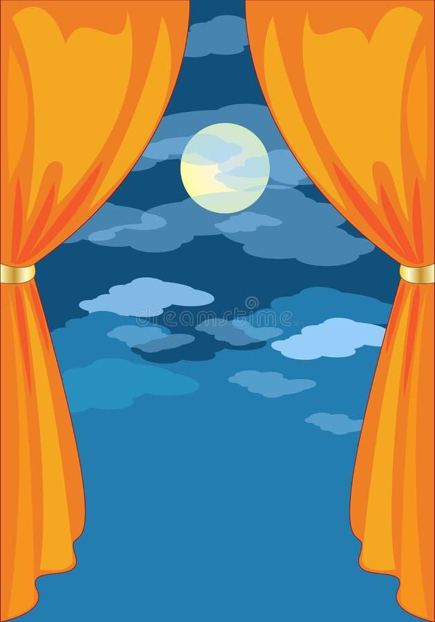 cortina stock de ilustración