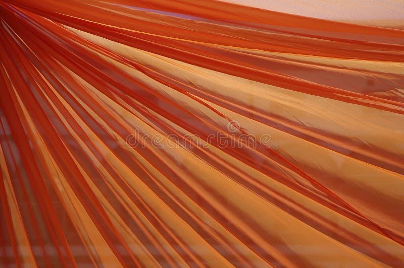 Cortina anaranjada fotos de archivo