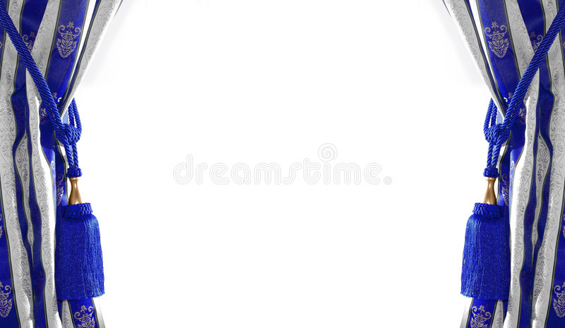 Cortina antigua 2 del estilo imagen de archivo libre de regalías