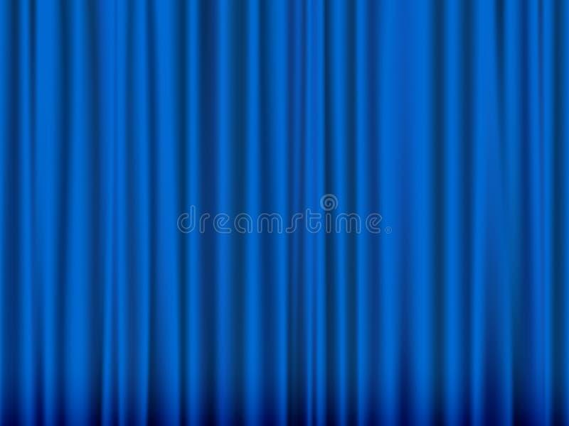 Cortina azul ilustração stock