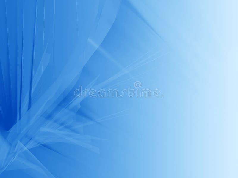 Cortina azul del resplandor stock de ilustración