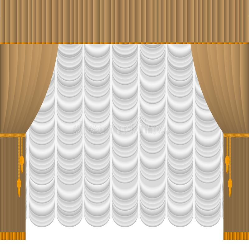 Cortina bege ilustração stock