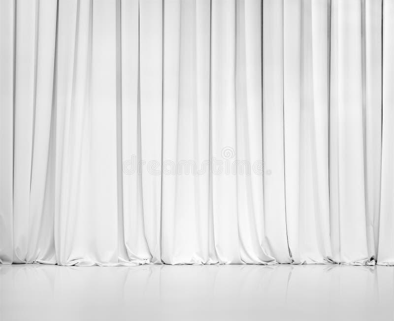 A cortina branca ou drapeja o fundo foto de stock royalty free