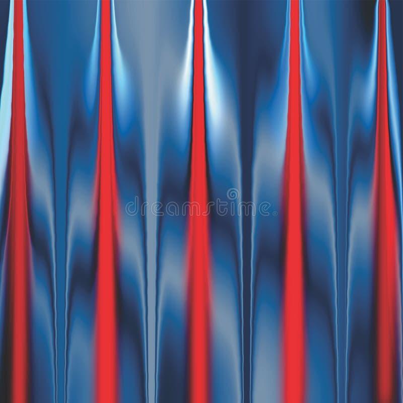 Cortina colorida da fase que tem projeto gerado por computador da imagem de fundo do efeito da luz ilustração stock