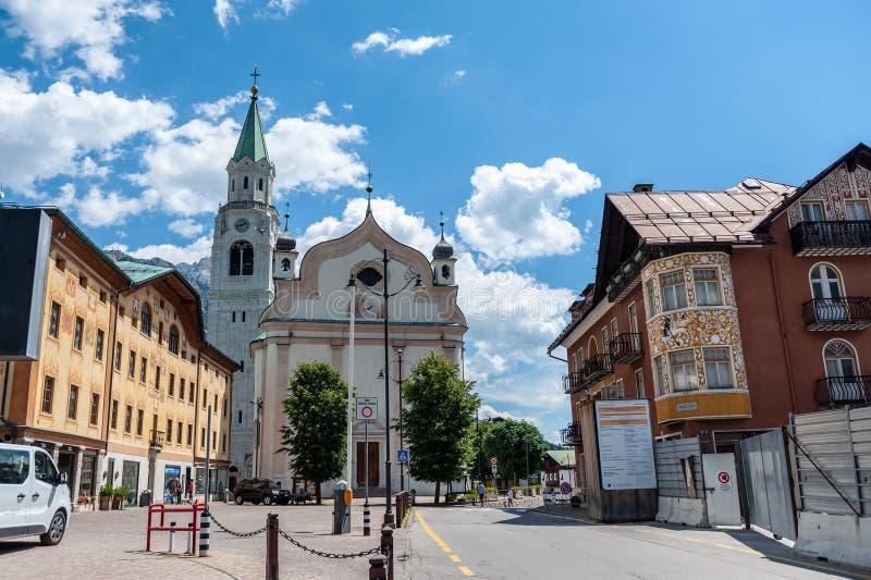 Cortina D ` Ampezzo lizenzfreies stockbild