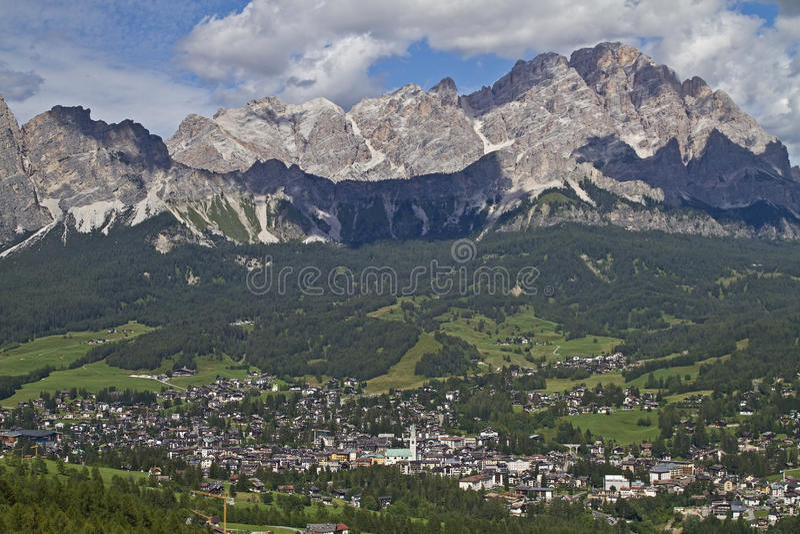 Cortina d Ampezzo fotos de archivo
