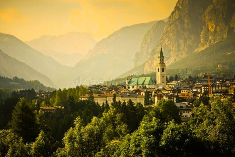 Cortina d'Ampezzo photos stock