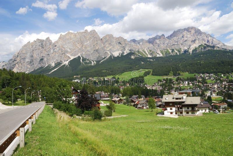 Cortina d'Ampezzo 免版税库存照片